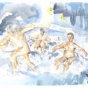 Vinterbadjävlar - 50x40